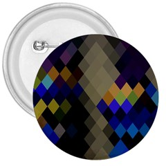 Background Of Blue Gold Brown Tan Purple Diamonds 3  Buttons by Nexatart