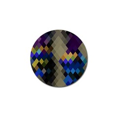 Background Of Blue Gold Brown Tan Purple Diamonds Golf Ball Marker (4 Pack)