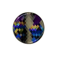 Background Of Blue Gold Brown Tan Purple Diamonds Hat Clip Ball Marker