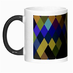 Background Of Blue Gold Brown Tan Purple Diamonds Morph Mugs