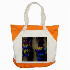 Background Of Blue Gold Brown Tan Purple Diamonds Accent Tote Bag