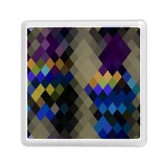 Background Of Blue Gold Brown Tan Purple Diamonds Memory Card Reader (square)  by Nexatart
