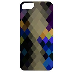 Background Of Blue Gold Brown Tan Purple Diamonds Apple Iphone 5 Classic Hardshell Case