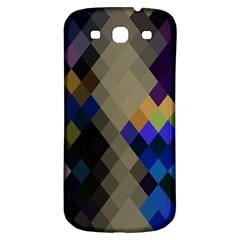 Background Of Blue Gold Brown Tan Purple Diamonds Samsung Galaxy S3 S Iii Classic Hardshell Back Case by Nexatart