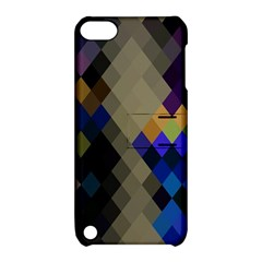 Background Of Blue Gold Brown Tan Purple Diamonds Apple Ipod Touch 5 Hardshell Case With Stand by Nexatart