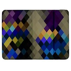 Background Of Blue Gold Brown Tan Purple Diamonds Samsung Galaxy Tab 7  P1000 Flip Case