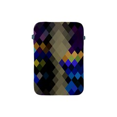 Background Of Blue Gold Brown Tan Purple Diamonds Apple Ipad Mini Protective Soft Cases by Nexatart