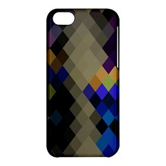 Background Of Blue Gold Brown Tan Purple Diamonds Apple Iphone 5c Hardshell Case