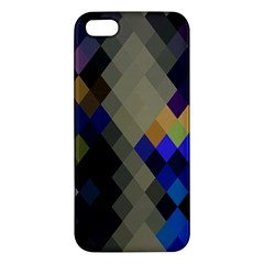 Background Of Blue Gold Brown Tan Purple Diamonds Iphone 5s/ Se Premium Hardshell Case by Nexatart