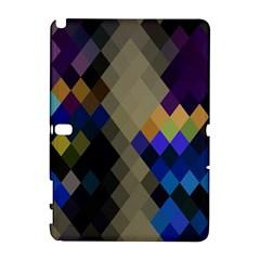 Background Of Blue Gold Brown Tan Purple Diamonds Galaxy Note 1 by Nexatart