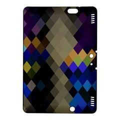 Background Of Blue Gold Brown Tan Purple Diamonds Kindle Fire Hdx 8 9  Hardshell Case by Nexatart