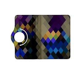 Background Of Blue Gold Brown Tan Purple Diamonds Kindle Fire Hd (2013) Flip 360 Case by Nexatart