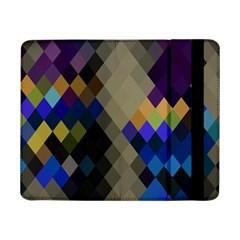 Background Of Blue Gold Brown Tan Purple Diamonds Samsung Galaxy Tab Pro 8 4  Flip Case