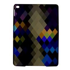 Background Of Blue Gold Brown Tan Purple Diamonds Ipad Air 2 Hardshell Cases