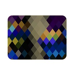Background Of Blue Gold Brown Tan Purple Diamonds Double Sided Flano Blanket (mini)  by Nexatart