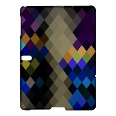 Background Of Blue Gold Brown Tan Purple Diamonds Samsung Galaxy Tab S (10 5 ) Hardshell Case  by Nexatart