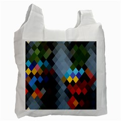Diamond Abstract Background Background Of Diamonds In Colors Of Orange Yellow Green Blue And More Recycle Bag (one Side) by Nexatart