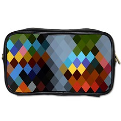 Diamond Abstract Background Background Of Diamonds In Colors Of Orange Yellow Green Blue And More Toiletries Bags