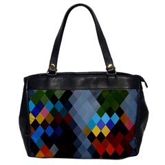 Diamond Abstract Background Background Of Diamonds In Colors Of Orange Yellow Green Blue And More Office Handbags by Nexatart