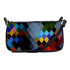 Diamond Abstract Background Background Of Diamonds In Colors Of Orange Yellow Green Blue And More Shoulder Clutch Bags by Nexatart