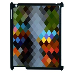 Diamond Abstract Background Background Of Diamonds In Colors Of Orange Yellow Green Blue And More Apple Ipad 2 Case (black)