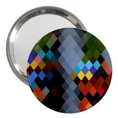 Diamond Abstract Background Background Of Diamonds In Colors Of Orange Yellow Green Blue And More 3  Handbag Mirrors