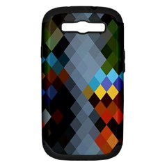 Diamond Abstract Background Background Of Diamonds In Colors Of Orange Yellow Green Blue And More Samsung Galaxy S Iii Hardshell Case (pc+silicone) by Nexatart