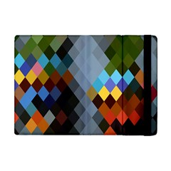 Diamond Abstract Background Background Of Diamonds In Colors Of Orange Yellow Green Blue And More Apple Ipad Mini Flip Case by Nexatart