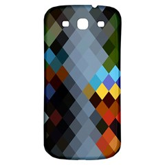 Diamond Abstract Background Background Of Diamonds In Colors Of Orange Yellow Green Blue And More Samsung Galaxy S3 S Iii Classic Hardshell Back Case