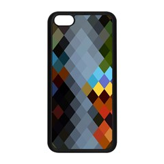 Diamond Abstract Background Background Of Diamonds In Colors Of Orange Yellow Green Blue And More Apple Iphone 5c Seamless Case (black) by Nexatart