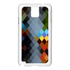 Diamond Abstract Background Background Of Diamonds In Colors Of Orange Yellow Green Blue And More Samsung Galaxy Note 3 N9005 Case (white)