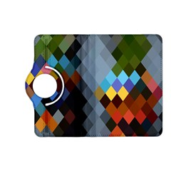 Diamond Abstract Background Background Of Diamonds In Colors Of Orange Yellow Green Blue And More Kindle Fire Hd (2013) Flip 360 Case by Nexatart