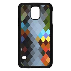 Diamond Abstract Background Background Of Diamonds In Colors Of Orange Yellow Green Blue And More Samsung Galaxy S5 Case (black)