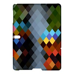 Diamond Abstract Background Background Of Diamonds In Colors Of Orange Yellow Green Blue And More Samsung Galaxy Tab S (10 5 ) Hardshell Case  by Nexatart