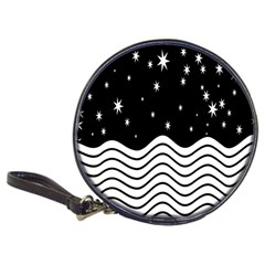 Black And White Waves And Stars Abstract Backdrop Clipart Classic 20 Cd Wallets
