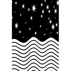 Black And White Waves And Stars Abstract Backdrop Clipart 5 5  X 8 5  Notebooks by Nexatart