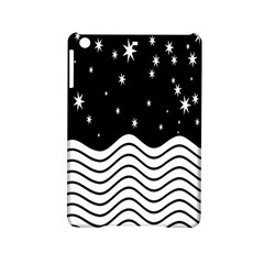 Black And White Waves And Stars Abstract Backdrop Clipart Ipad Mini 2 Hardshell Cases by Nexatart