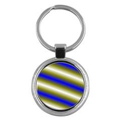 Color Diagonal Gradient Stripes Key Chains (round)  by Nexatart