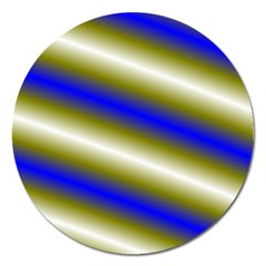 Color Diagonal Gradient Stripes Magnet 5  (round) by Nexatart