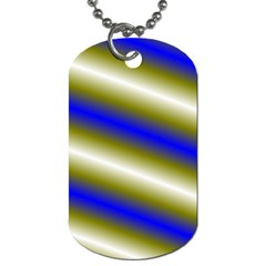 Color Diagonal Gradient Stripes Dog Tag (one Side)