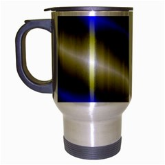 Color Diagonal Gradient Stripes Travel Mug (silver Gray) by Nexatart