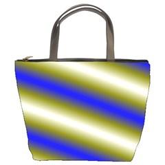 Color Diagonal Gradient Stripes Bucket Bags