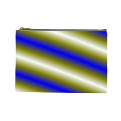 Color Diagonal Gradient Stripes Cosmetic Bag (large)  by Nexatart