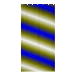 Color Diagonal Gradient Stripes Shower Curtain 36  X 72  (stall)
