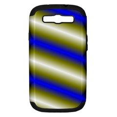 Color Diagonal Gradient Stripes Samsung Galaxy S Iii Hardshell Case (pc+silicone)