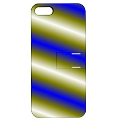 Color Diagonal Gradient Stripes Apple Iphone 5 Hardshell Case With Stand by Nexatart