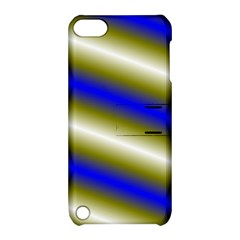 Color Diagonal Gradient Stripes Apple Ipod Touch 5 Hardshell Case With Stand by Nexatart