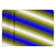 Color Diagonal Gradient Stripes Samsung Galaxy Tab 10 1  P7500 Flip Case