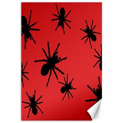 Illustration With Spiders Canvas 12  X 18