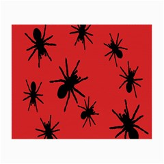 Illustration With Spiders Small Glasses Cloth (2 Side) by Nexatart